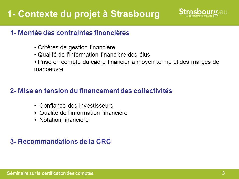 1- Contexte du projet à Strasbourg