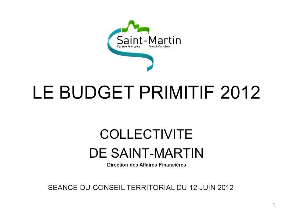 COLLECTIVITE DE SAINT-MARTIN Direction des Affaires Financières