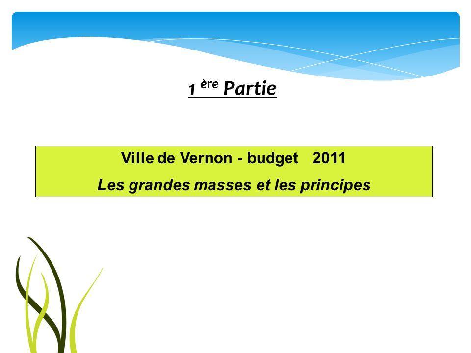 Ville de Vernon - budget 2011 Les grandes masses et les principes
