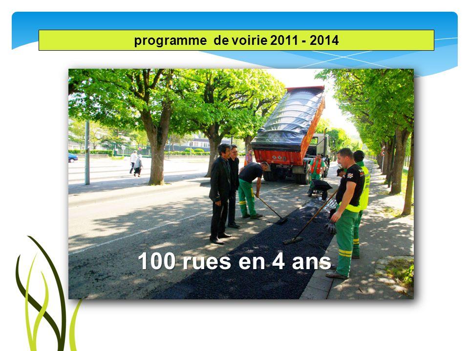 programme de voirie 2011 - 2014 100 rues en 4 ans
