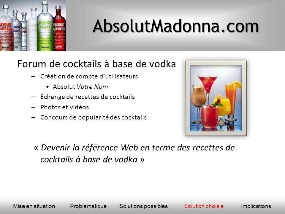 AbsolutMadonna.com Forum de cocktails à base de vodka