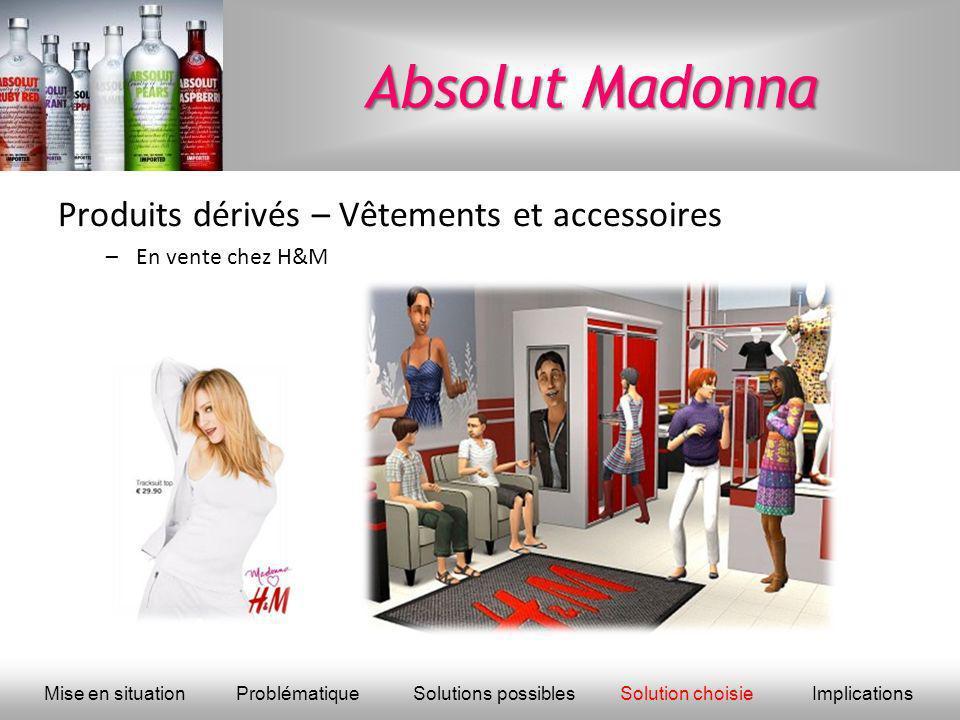 Absolut Madonna Produits dérivés – Vêtements et accessoires