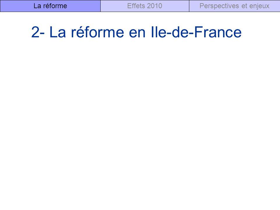 2- La réforme en Ile-de-France
