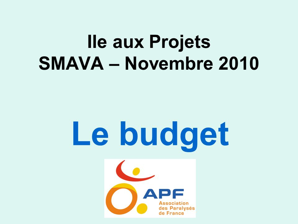 Ile aux Projets SMAVA – Novembre 2010