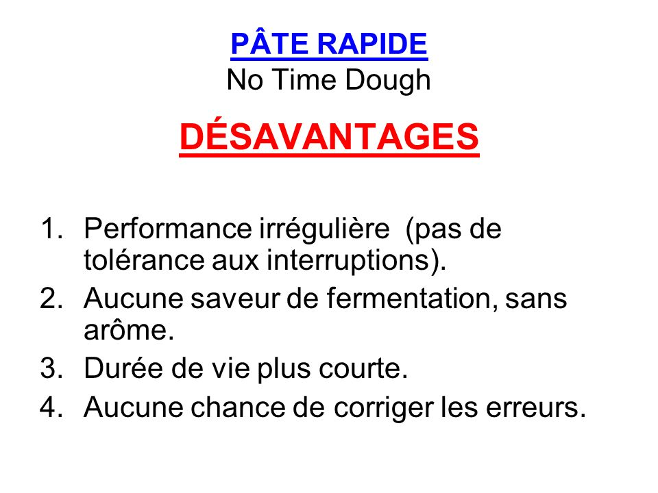 PÂTE RAPIDE No Time Dough