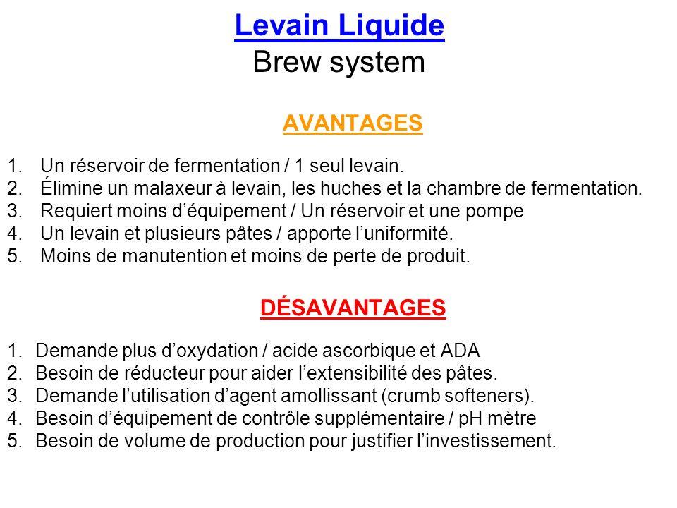 Levain Liquide Brew system
