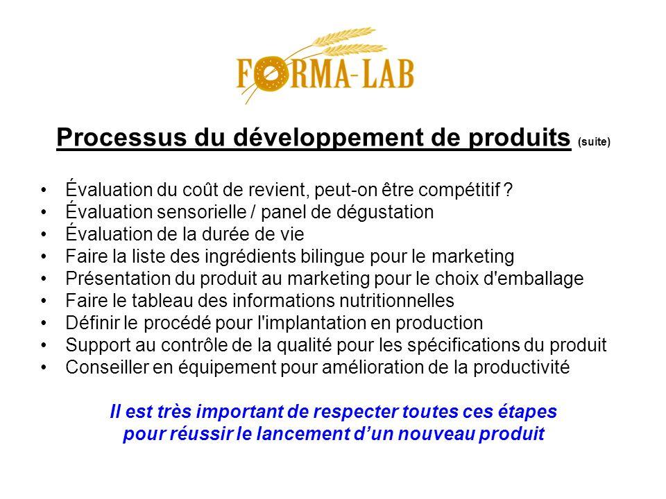 Processus du développement de produits (suite)