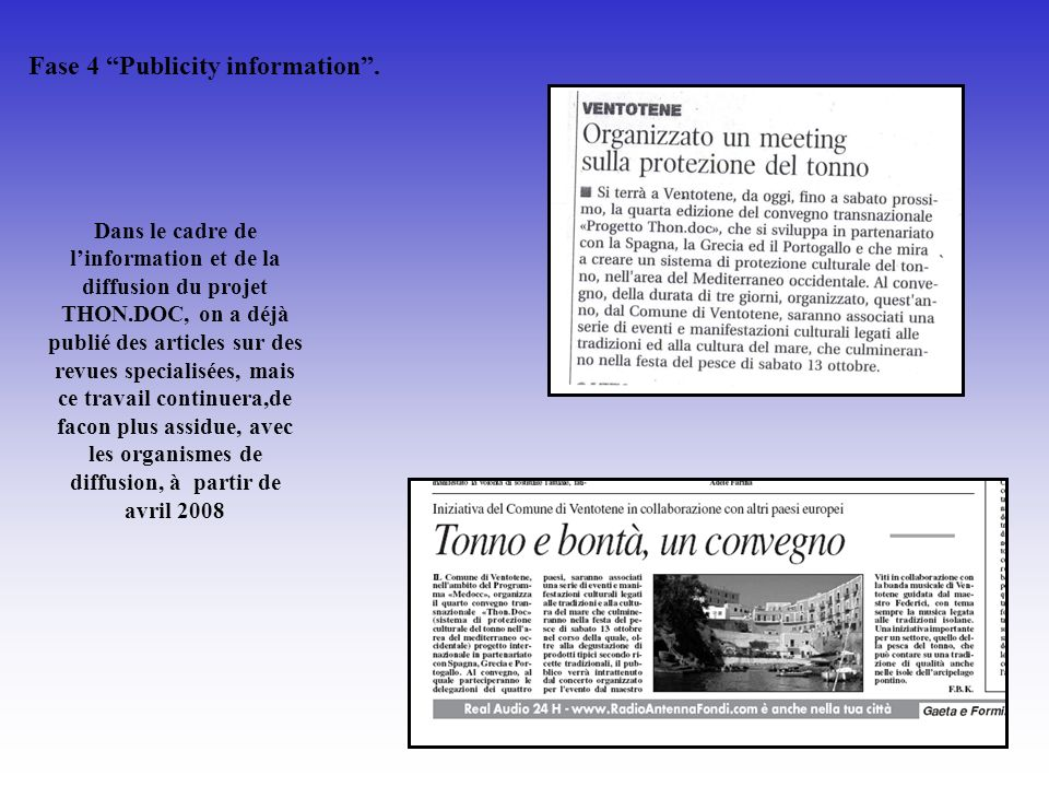 Fase 4 Publicity information .