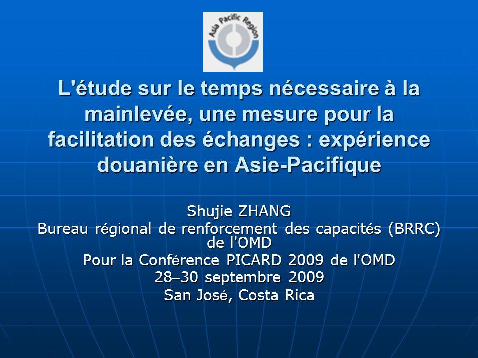 L étude sur le temps nécessaire à la mainlevée, une mesure pour la facilitation des échanges : expérience douanière en Asie-Pacifique