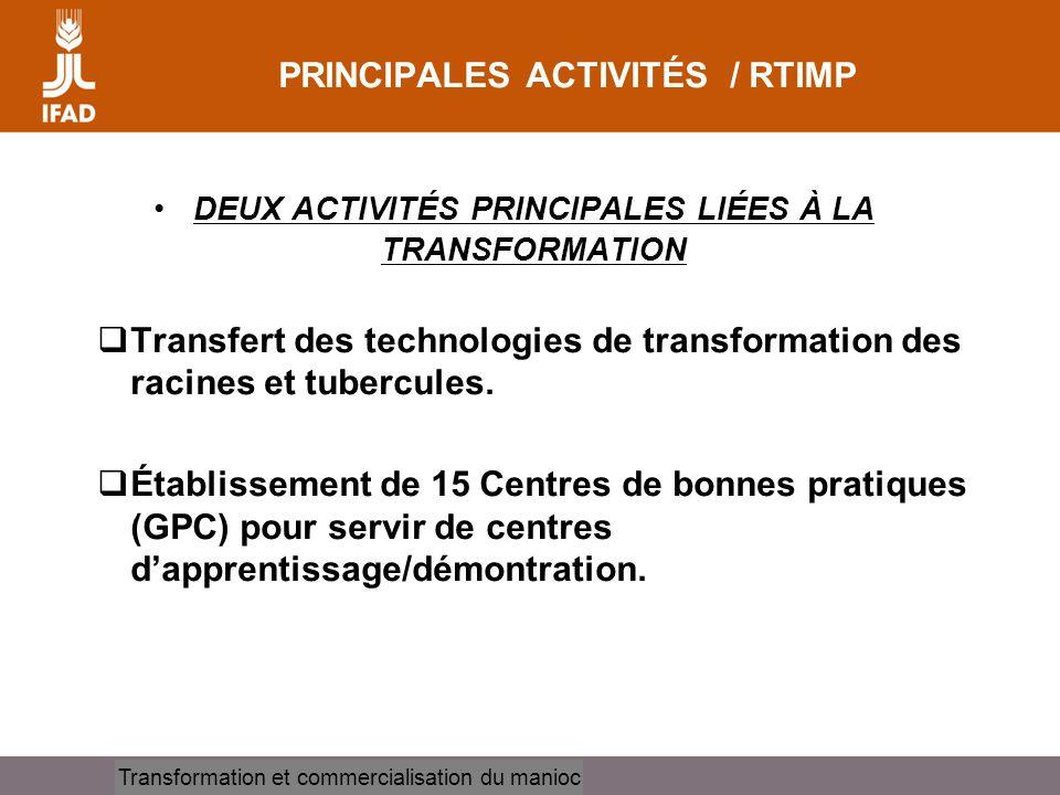 PRINCIPALES ACTIVITÉS / RTIMP