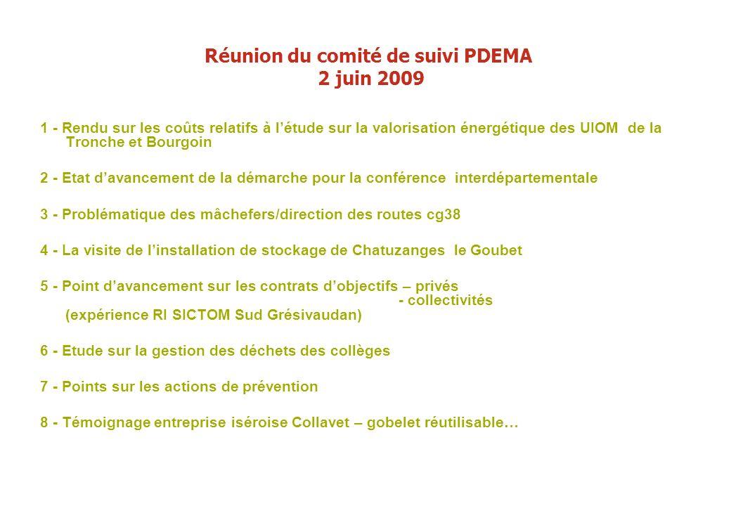 Réunion du comité de suivi PDEMA 2 juin 2009