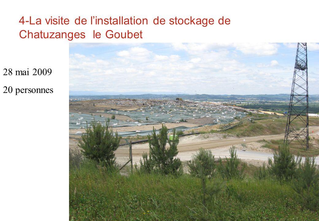 4-La visite de l'installation de stockage de Chatuzanges le Goubet