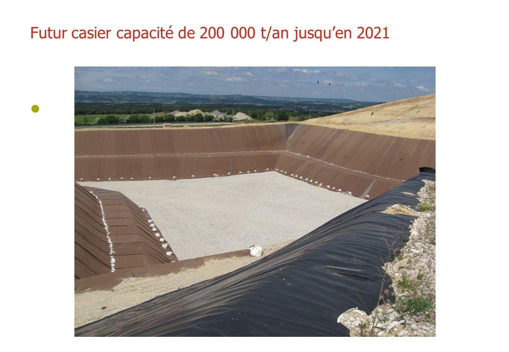Futur casier capacité de 200 000 t/an jusqu'en 2021