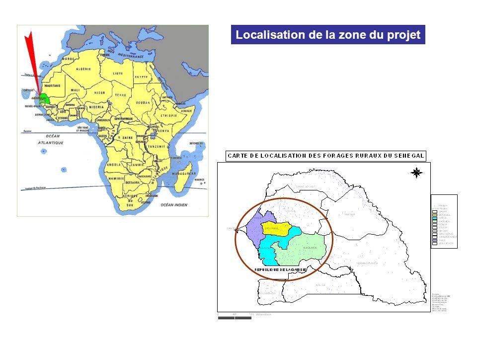 Localisation de la zone du projet