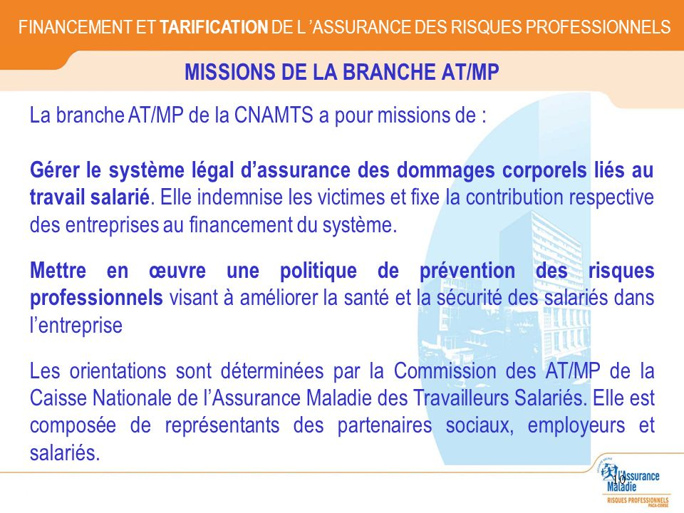MISSIONS DE LA BRANCHE AT/MP