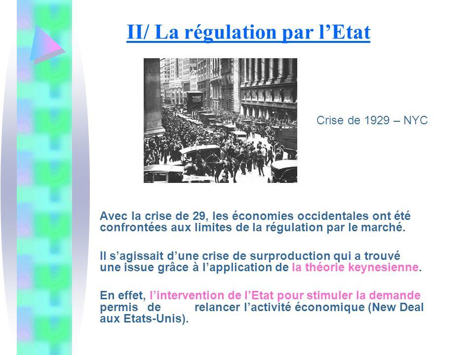 II/ La régulation par l'Etat