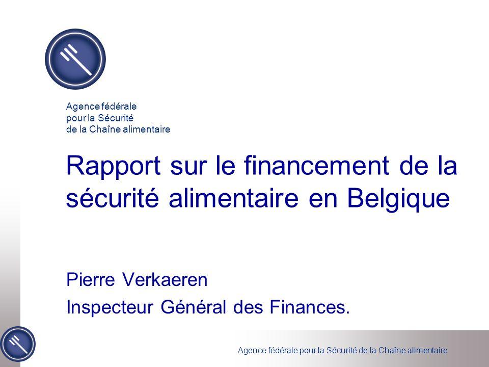 Rapport sur le financement de la sécurité alimentaire en Belgique