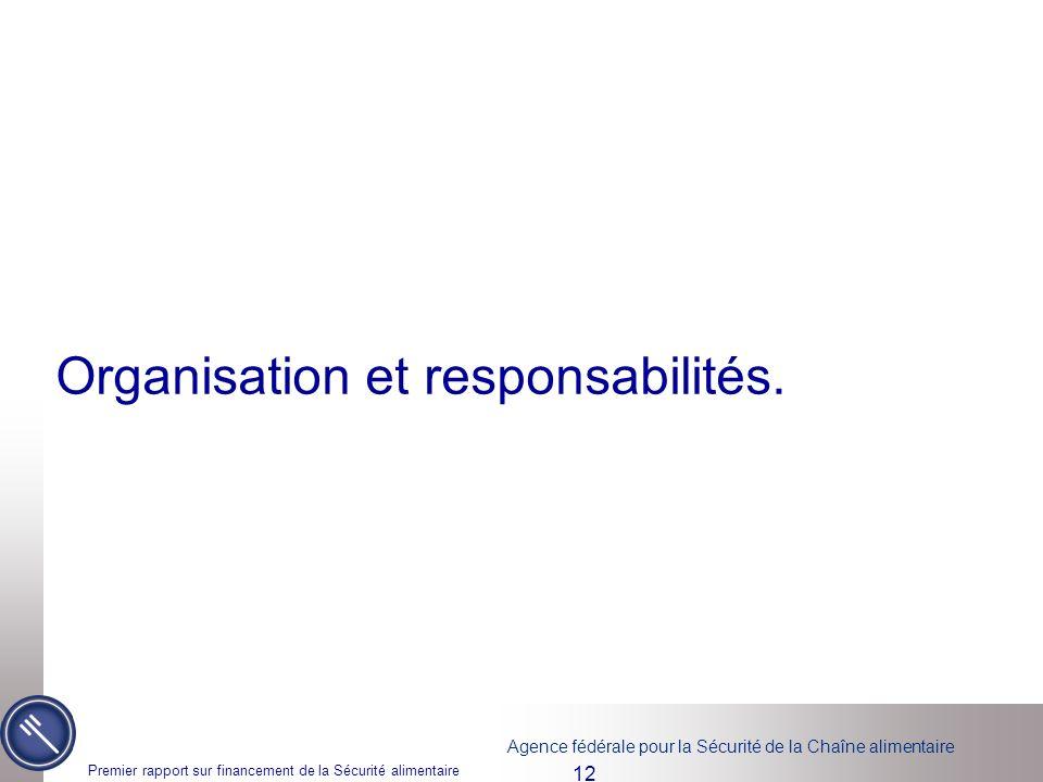 Organisation et responsabilités.