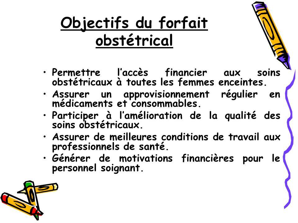 Objectifs du forfait obstétrical