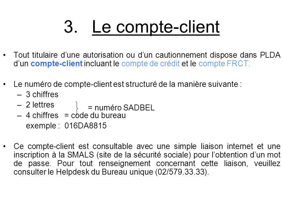 3. Le compte-client