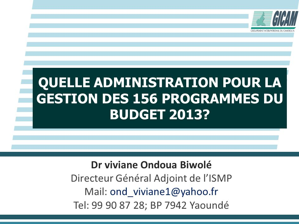 Dr viviane Ondoua Biwolé