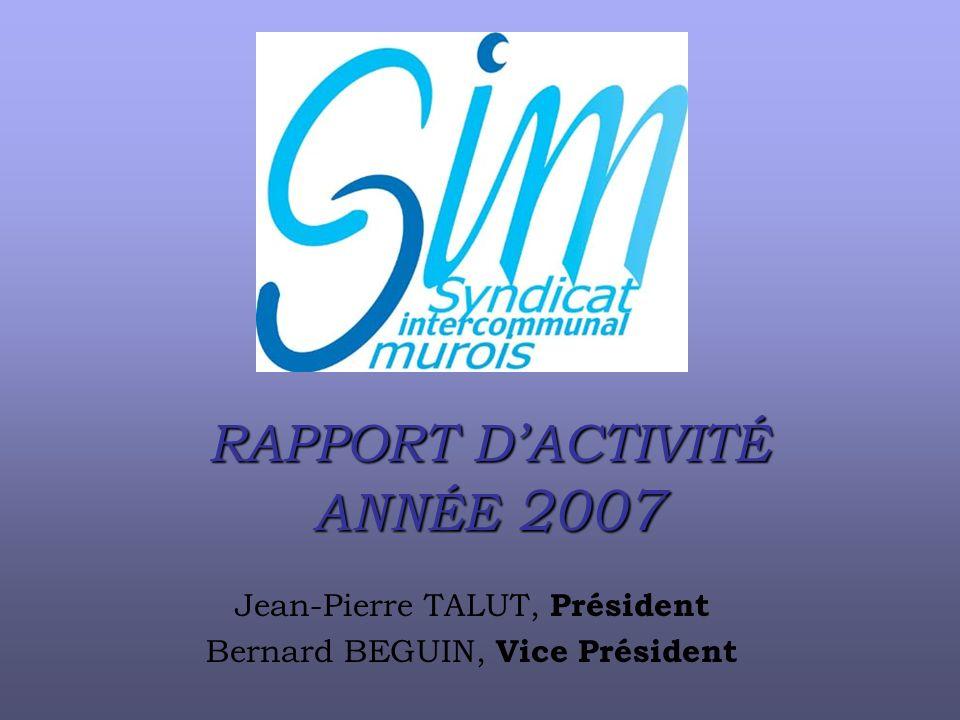 RAPPORT D'ACTIVITÉ ANNÉE 2007
