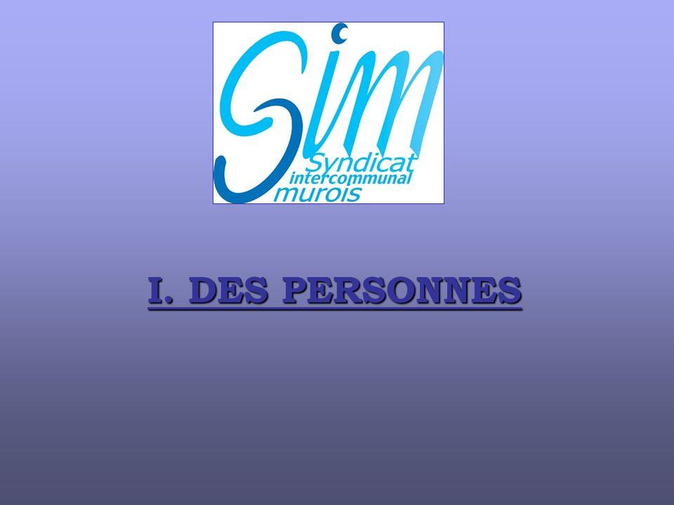 I. DES PERSONNES