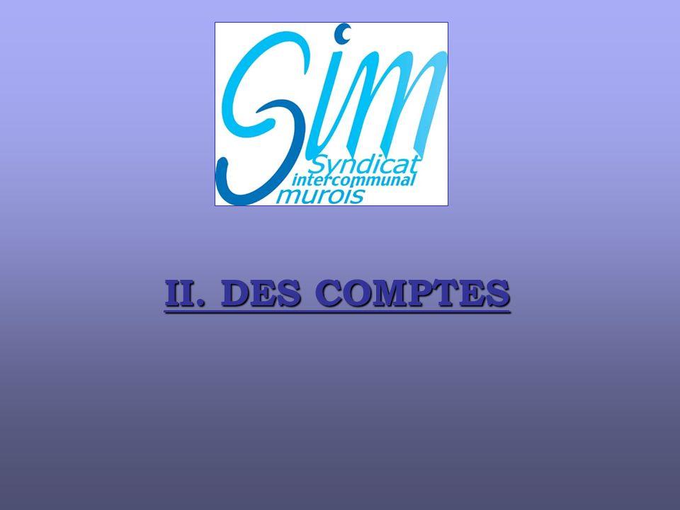 II. DES COMPTES