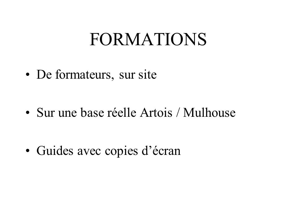 FORMATIONS De formateurs, sur site