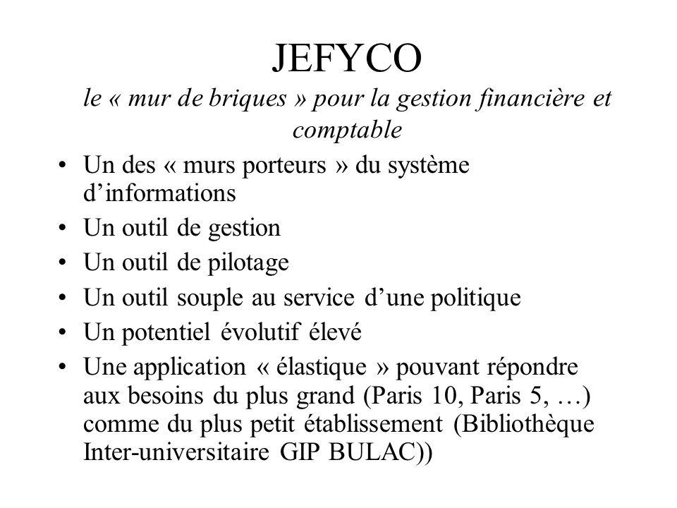JEFYCO le « mur de briques » pour la gestion financière et comptable