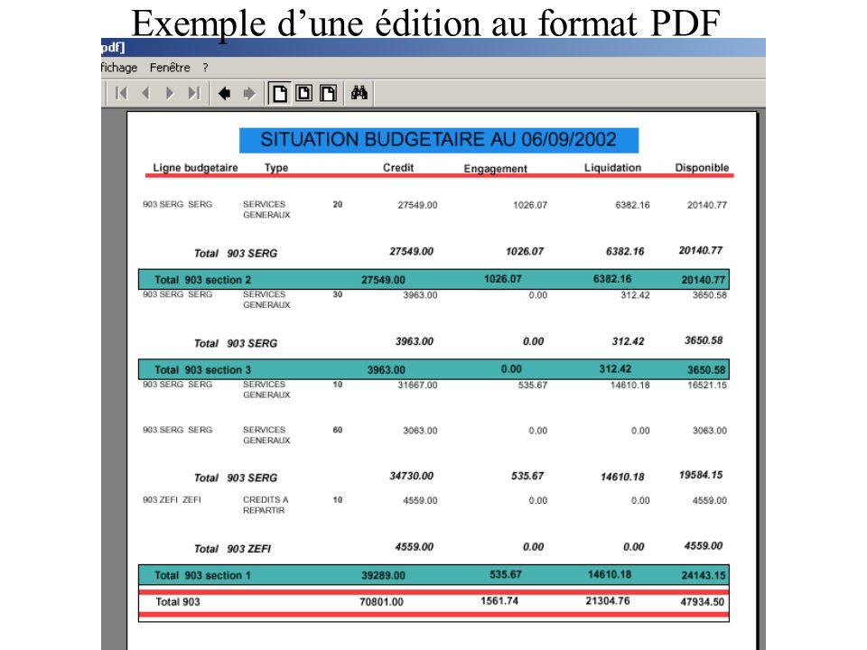 Exemple d'une édition au format PDF