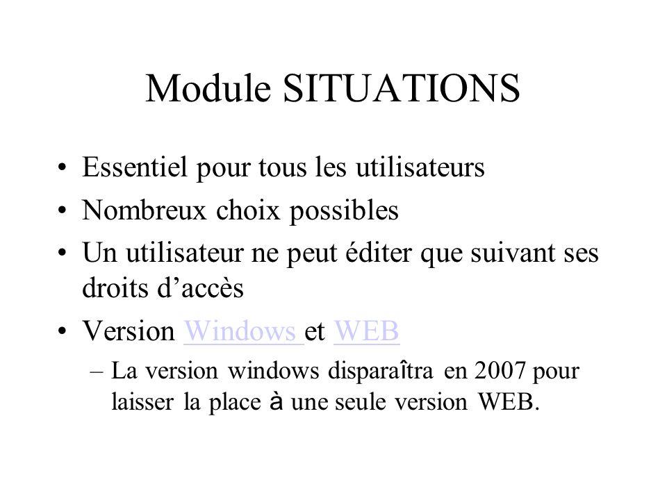 Module SITUATIONS Essentiel pour tous les utilisateurs