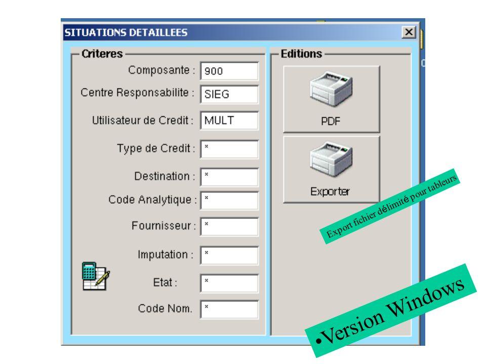 Export fichier délimité pour tableurs