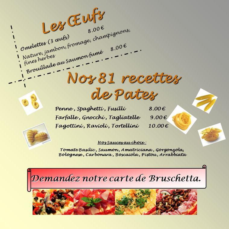 Les Œufs Nos 81 recettes de Pates