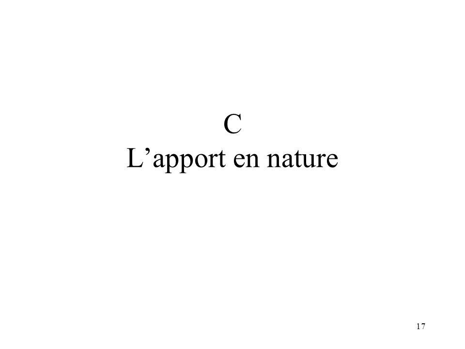 C L'apport en nature