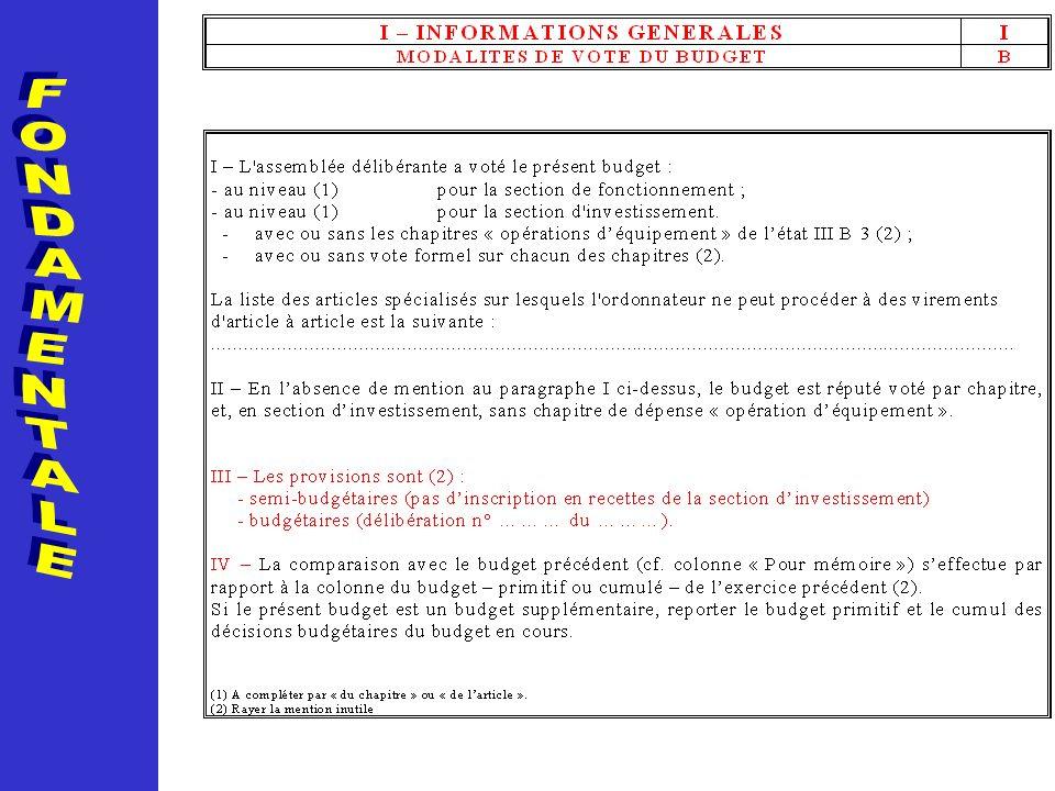 FONDAMENTALE La page 4 retrace les informations relatives aux modalités de vote du budget.
