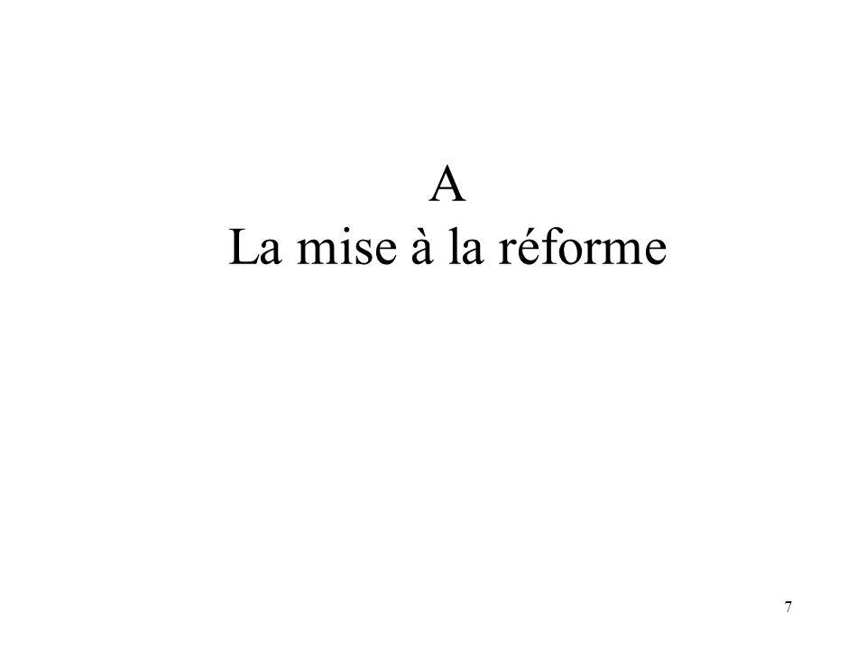 A La mise à la réforme