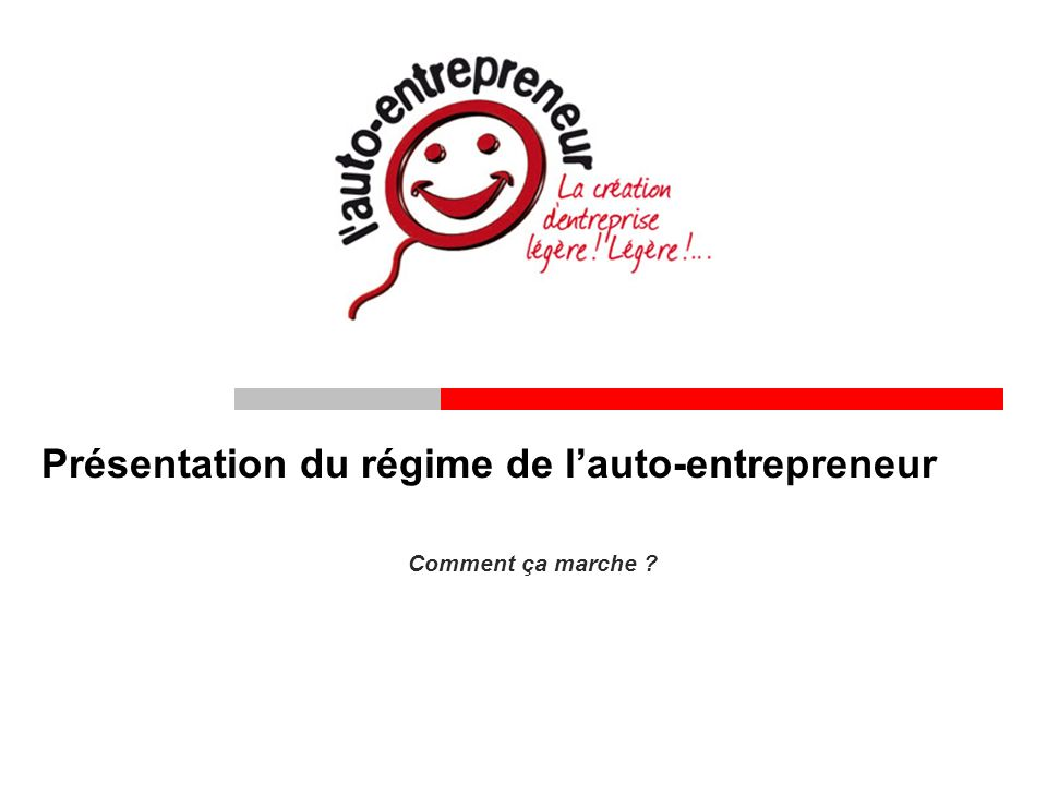 Pr sentation du r gime de l auto entrepreneur ppt video for Auto entrepreneur idees qui marchent