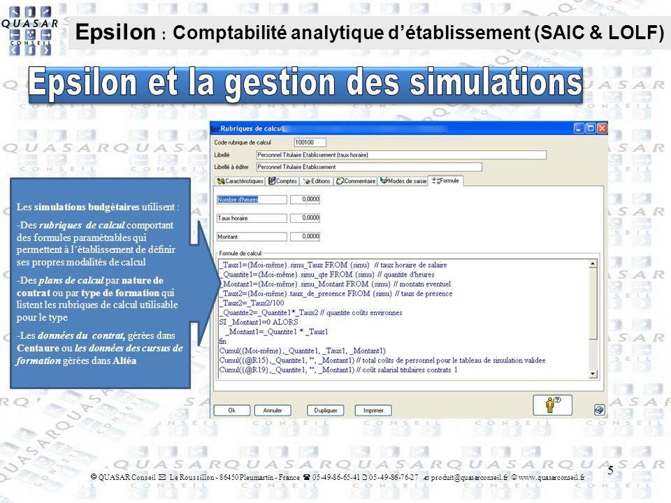 Epsilon et la gestion des simulations