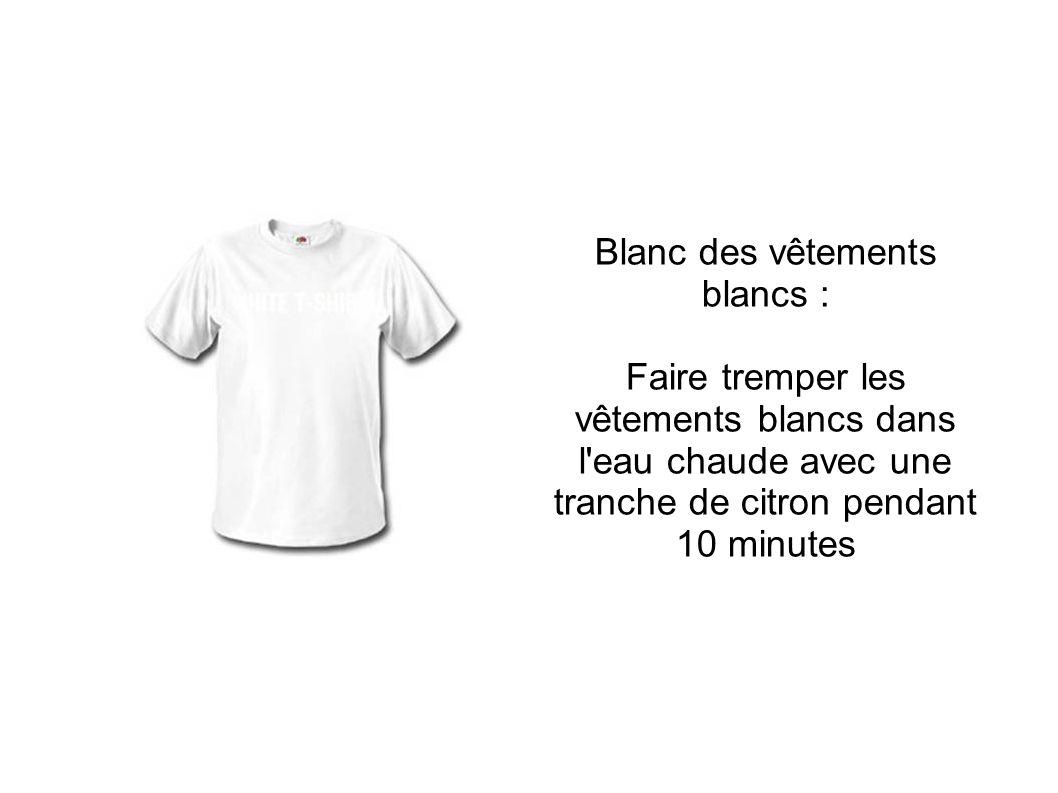 Blanc des vêtements blancs :