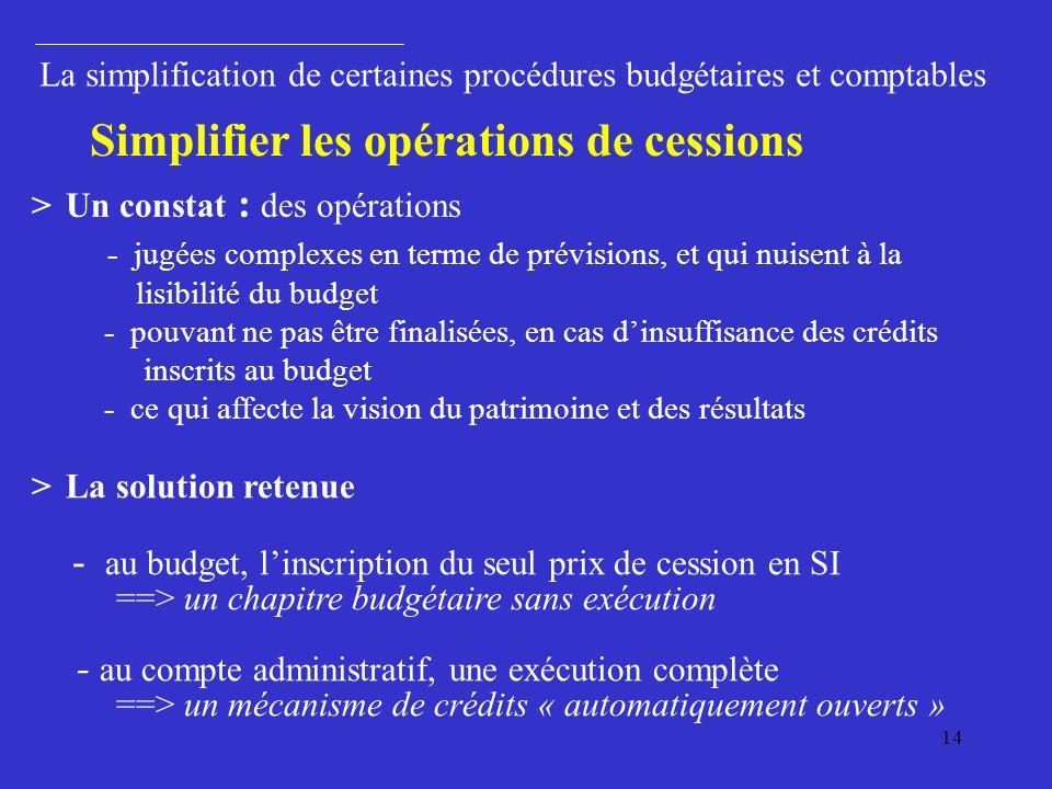 Simplifier les opérations de cessions