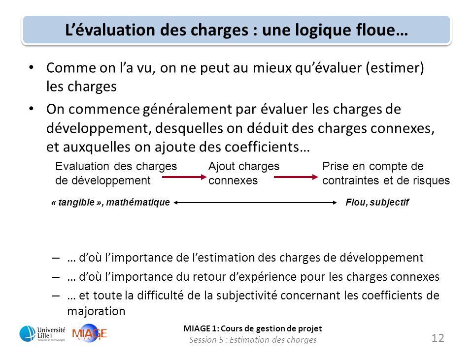 L'évaluation des charges : une logique floue…