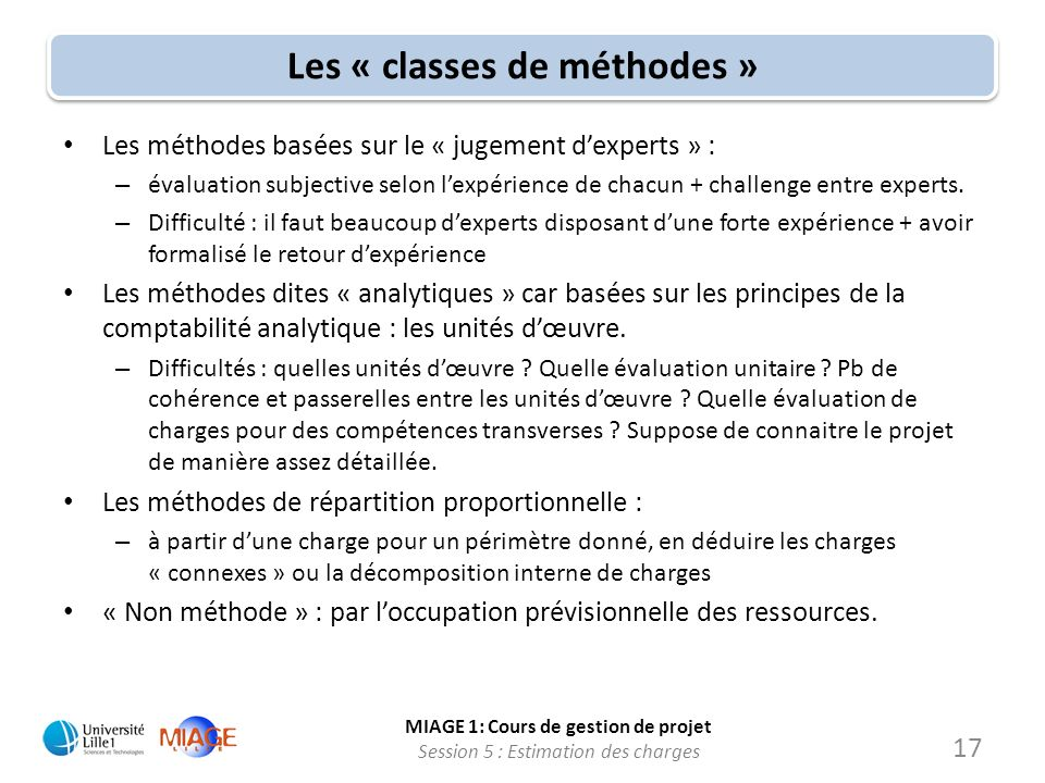 Les « classes de méthodes »