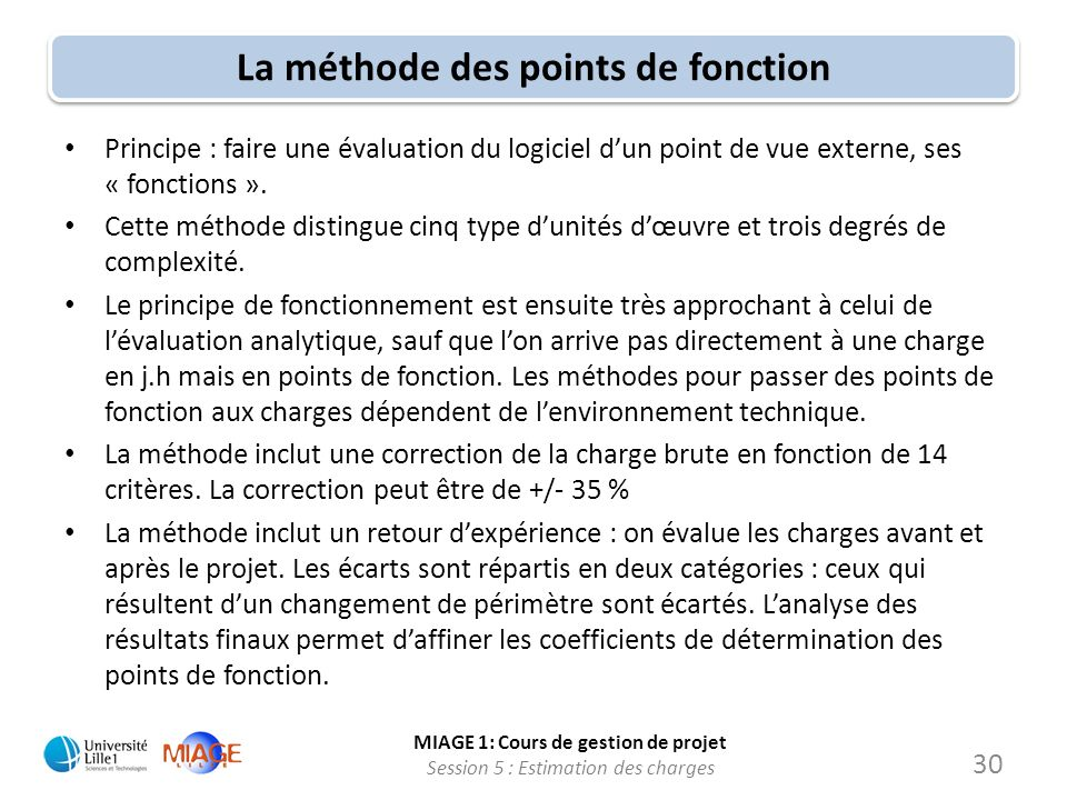 La méthode des points de fonction