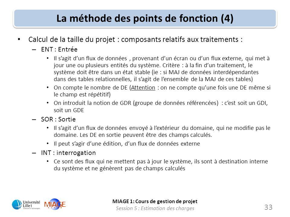 La méthode des points de fonction (4)