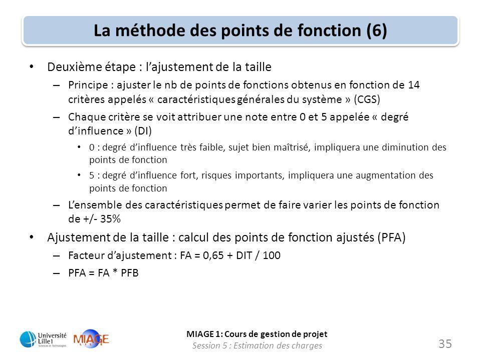 La méthode des points de fonction (6)