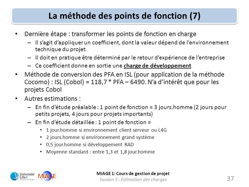 La méthode des points de fonction (7)