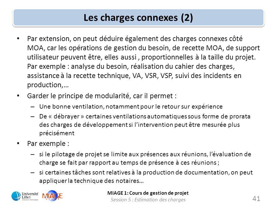 Les charges connexes (2)