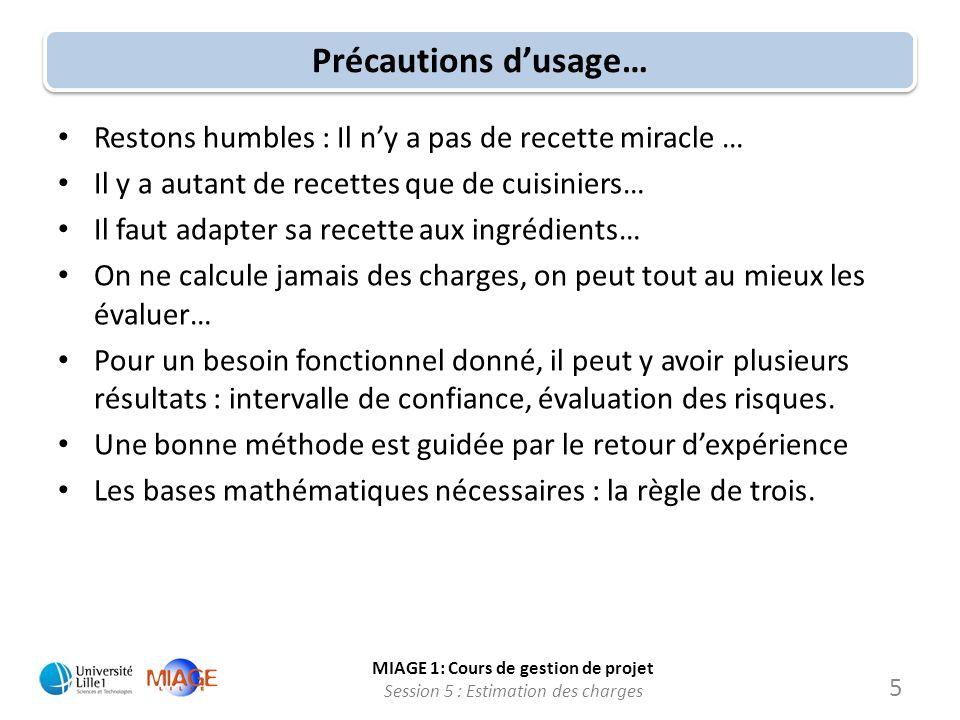 Précautions d'usage… Restons humbles : Il n'y a pas de recette miracle … Il y a autant de recettes que de cuisiniers…