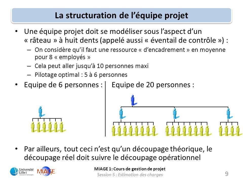 La structuration de l'équipe projet